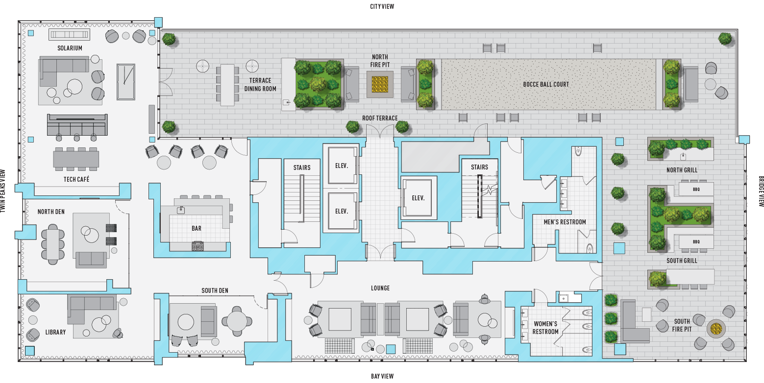 Amenity Map Floor 35
